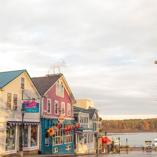 Coastal town in Maine