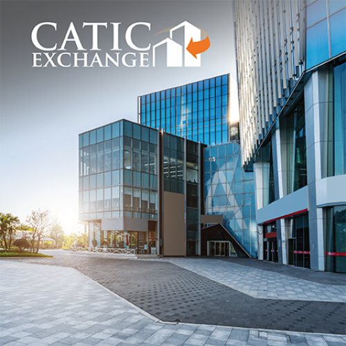CATIC Exchange Logo with Commercial Building